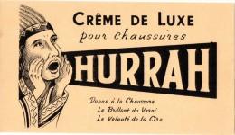Buvard  Hurrah, Crème De Luxe Pour Chaussures. - Produits Ménagers
