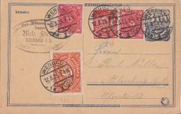 DR Ganzsache Zfr. Minr.194, 2x 206,240 Werdau 12.3.23 Geprüft - Briefe U. Dokumente