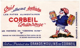 Buvard  Pâtes Alimentaires Corbeil, Cordon Rouge. - Buvards, Protège-cahiers Illustrés