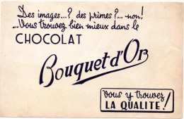 Buvard Chocolat Bouquet D'Or. - Chocolat