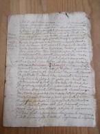 CACHET GENERALITE BORDEAUX 1745  Acte DORDOGNE 1746 Près Le Bugue Village De Campagne Hameau De Cabans - Algemene Zegels