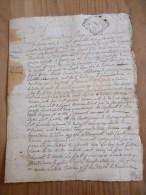 CACHET GENERALITE BORDEAUX 1739  Acte DORDOGNE 1743 Commune De Manaurie Tursac Boscontal - Algemene Zegels