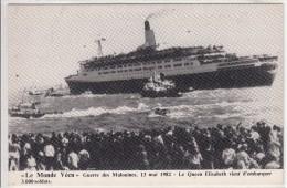 """Le Monde Vécu  """" Guerre Des Malouines 13 Mai 1982 - Le QUEEN ELISABETH Vient D'embarquer 3000 Soldats """" - Steamers"""