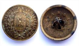 Bouton IFIRMIERS MILITAIRES. Modèle 1871. III°République. Bronze. 22 Mm - Boutons
