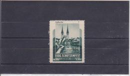 Reklamemarke Eidg. Schützenfest - Luzern 1939 - Hofkirche (360) - Erinnophilie