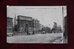 MONTPELLIER - Arc De Triomphe Et Eglise Ste ANNE - Montpellier