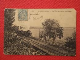 06 Frankreich France Le Golfe Juan Vue Prise De La Ligne Chemin De Fer Nice Cannes Avec Un Train 1904 - Unclassified