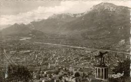 Carte Postale Les Belles Alpes Françaises  GRENOBLE  Téléphérique De La Bastille,la Vallée Du Drac Et Le Moucherotte - Grenoble