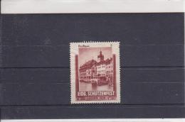 Reklamemarke Eidg. Schützenfest - Luzern 1939 - Reußquai (364) - Erinnophilie