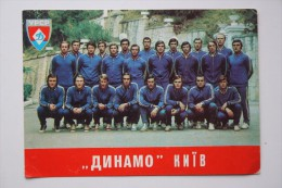 "Soccer  - Old USSR Postcard Futbolnaya Komanda ""Dinamo""  KIEV 1975 FOOTBALL - Fussball"