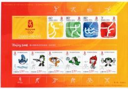 China  Chine : (8017) 2008-18 Jeux Olympiques De Beijing Ouverture Bloc-feuillet Commémorative - Ungebraucht