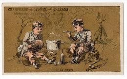 Chromo Mercerie, Bonneterie, Chemises, Champillou & Leoman, Orléans : La Soupe ( Soldats ) - Autres
