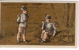 Chromo Mercerie, Bonneterie, Chemises, Champillou & Leoman, Orléans : La Permission ( Soldats ) - Autres
