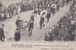"""Antwerpen Begrafenis Karel Verbist 3 """"kronen Der Sportclubs"""" Funeral Cyclist Cyclisme Cycling Wielrenner 1909 - Wijnegem"""