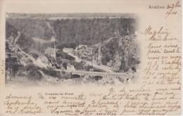 YONNE - AVALLON - Cousin Le Pont  ( - Carte Pionnière - Timbre à Date De 1900 ) - Avallon