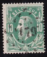 N° 30 - Lp. 179  HERVE - PUNTSTEMPEL - 1869-1883 Léopold II