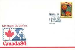 1984  Cuba Flowers On Canada84 Souvenir Enveloppe  #2 - Cuba