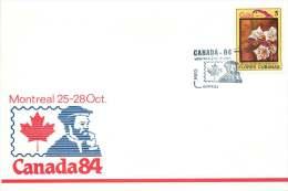 1984  Cuba Flowers On Canada84 Souvenir Enveloppe  #4 - Cartas