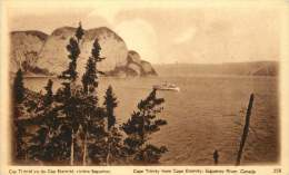Sepia Pictorial Postcard  -Cape Trinity From Cape Eternity, Saguenay River, Quebec .  #258  Unused - 1903-1954 Rois
