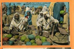 MBU-14  Kénitra  Port-Lyautey  Marchands De Légumes. TRES ANIME. Circulé Sous Enveloppe En 1927 - Morocco