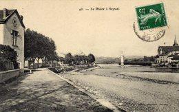 CPA   01   LE RHONE A SEYSSEL---1908 ?---RARE ? - Seyssel