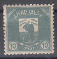 Russia Occupation Finland, Karelia Karjala Karelien 1922 Mi#2 Mint Hinged