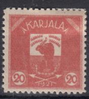 Russia Occupation Finland, Karelia Karjala Karelien 1922 Mi#3 Mint Hinged