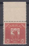 Russia Occupation Finland, Karelia Karjala Karelien 1922 Mi#3 Mint Hinged, Marginal Pair With Margins
