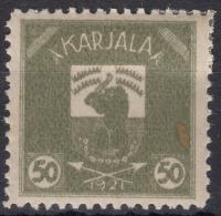 Russia Occupation Finland, Karelia Karjala Karelien 1922 Mi#6 Mint Hinged