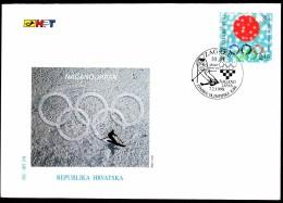 Croatia Zagreb 1998 / Olympic Games Nagano / Alpine Skiing / FDC - Hiver 1998: Nagano
