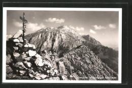 AK Gipfelkreuz Auf Dem Jennergipfel Gegen Das Hohe Brett - Religions & Croyances