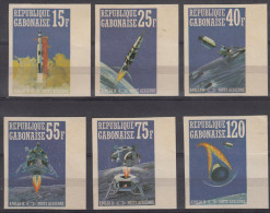 Gabon 1971 Space Mi#411-416 MNG