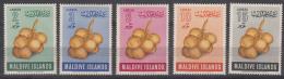 Maldives 1971 Fruit Mi#69-73 Mint Never Hinged