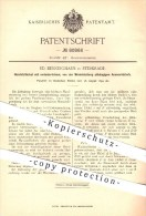 Original Patent - Ed. Benninghaus , Sterkrade , 1894 , Hand - Stellhebel , Maschinen , Bergbau , Fördermaschinen , Gooch - Documents Historiques