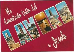 O2174 Ho Dimenticato Tutto Del Lavoro A Jesolo (Venezia) - Humor - Vedute Panorama Multipla / Viaggiata - Italia
