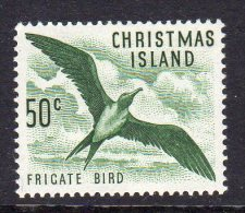 CHRISTMAS ISLAND - 1963 50c DEFINITIVE FRIGATE BIRD STAMP FINE MNH ** SG19 - Christmas Island