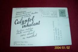 BRUXELLES  LE 21 12 1957  °  CALYPTOL INHALANT   ° LABORATOIR ROGER BELLON PARIS - Advertising
