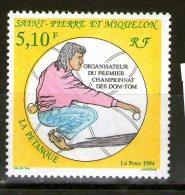 SAINT-PIERRE ET MIQUELON 1994 PETANQUE  DALLAY  N°592  NEUF MNH**