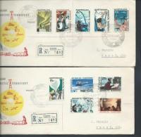 Australian Antarctic Territory 1966 Decimal Definitives Set 10 On 2 Wilkes Base Registered FDC - Australian Antarctic Territory (AAT)