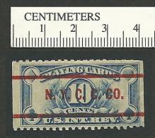 96-74 USA Playing Cards Revenue New York NTCCCo MHR Thin - Erinnofilia