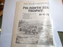 Nivelles-Baulers 7TH North Sea Trophy (15-4-1973) Sur Présentation De Cette Page Entrée Gratuite Pour Les Moins De 16ans - Autres
