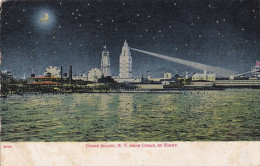 Coney Island New York NY From Ocean By Night 1908 Stamp - Ponts & Tunnels