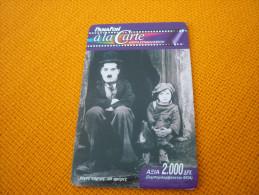 Charlie Chaplin/ Charlot/Cinema Greece Prepaid Phonecard - Cinéma