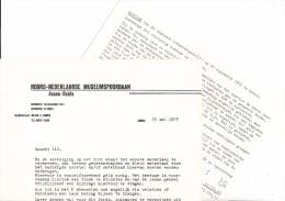 ´DE BUFFER´ - N.M.S. -2 BRIEVEN:  NOTULEN En BEDELBRIEF 1975 - (See  Scan) - Spoorweg