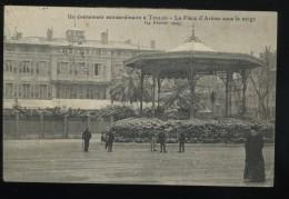 83 Var Un évènement Extraordinaire à Toulon La Place D'Armes Sous La Neige 24 Février 1909 Language Codé Animée - Toulon