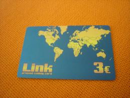 World Map - Greece Link Prepaid Phonecard - Télécartes