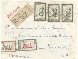 Morocco , Nice Old Registered Cover By Airmail, Full Franking - Morocco (1956-...)