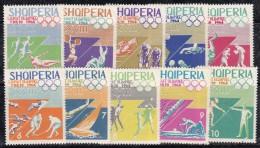 Albanie 1964 N°Y.T. :  707 à 716 ** - Albanie