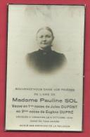 Souvenir Mortuaire - Pauline Sol , Décédée à Vergnies Le 9 Octobre 1939 - Décès