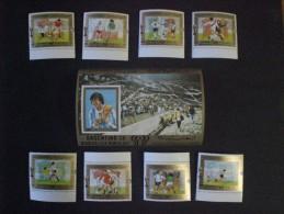 "STAMPS YEMEN 1980 FOOTBALL WORLD CHAMPIONSHIP ARGENTINA 78  MICHEAL CATALOGUE 1619/1626, SHEET 1628  MNH  2 "" SERIE - Yemen"